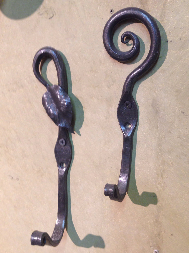 Leaf or Scroll Coat Hook