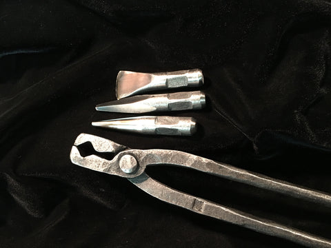 H-13 punches and tong holder set