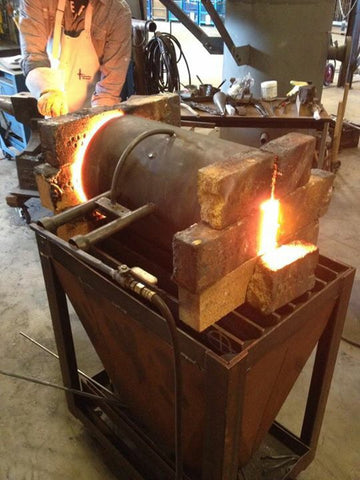 Propane fueled blacksmith gas forge