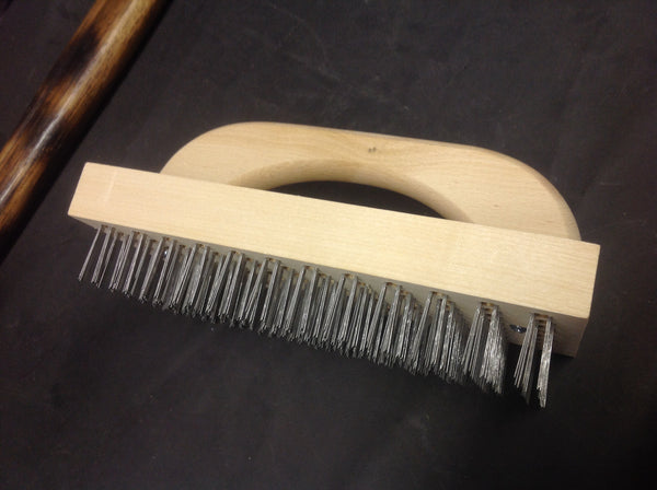 Butcher block wire brushes Blade type