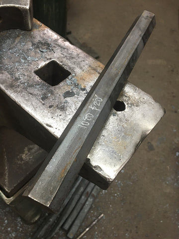 "1080 carbon tool steel 1.25""x12"" (PER FOOT)"