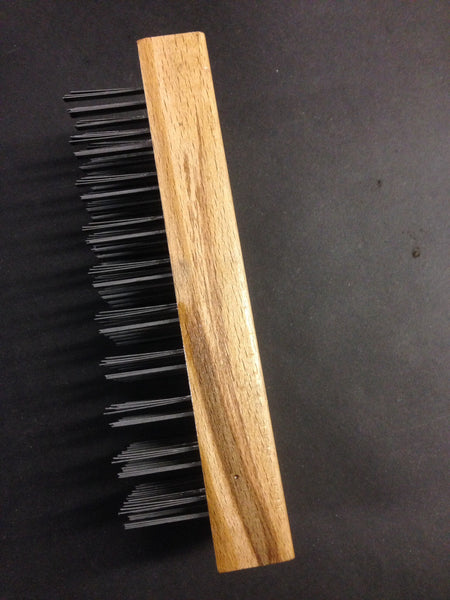 Butcher block brush with hand forged  handle
