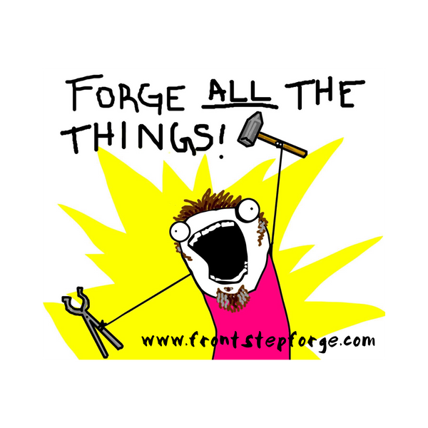 """Forge all the things"" T-shirts"
