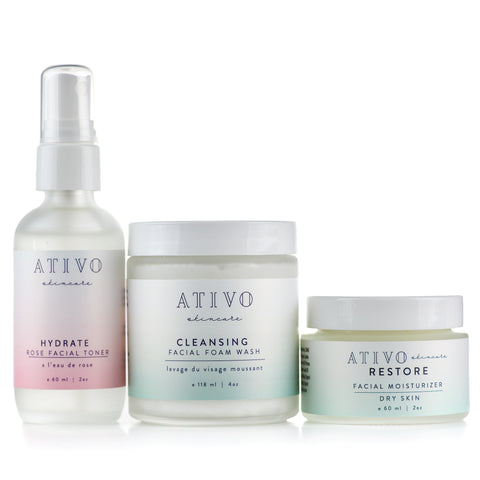 Ativo Skincare Three Step Dry Skin Package