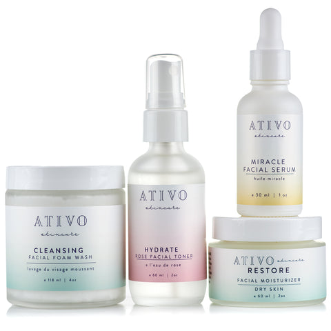 Ativo Skincare Four Step Dry Skin Package