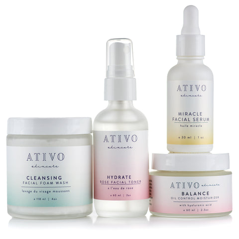 Ativo Skincare Four Step Oily Skin Package