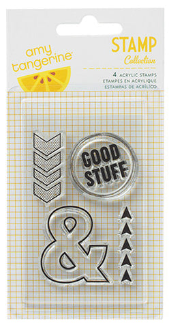 amy tangerine | Cut & Paste | Clear Stamp| Accents and Phrases | This Way
