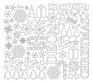 Stickers | Line Art | Deck Halls