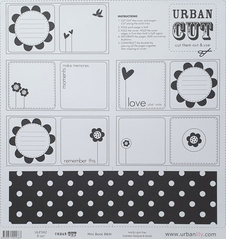 Urban Lily | Cut Collection | Mini Book B&W