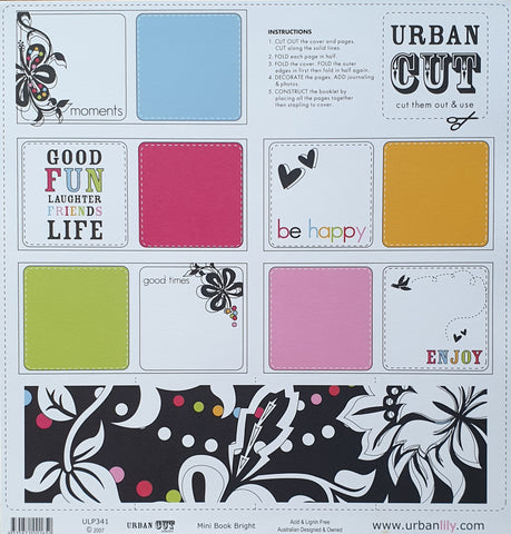 Urban Lily | Urban Cut Collection | Mini Book Bright
