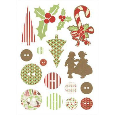 KAISERcraft | Printed Chipboard | Be Merry