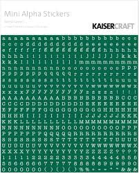 KAISERcraft | Mini Alpha Stickers | Forest Green