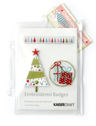 KAISERcraft | Embroidered Badges | Christmas Carnival