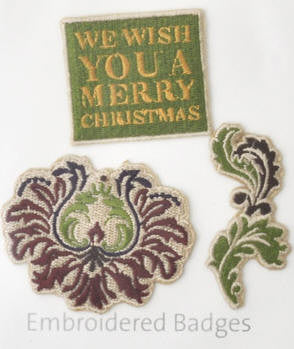 KAISERcraft | Embroidered Badges | Dear Santa