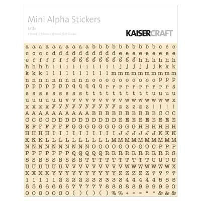 KAISERcraft | Mini Alpha Stickers | Latte