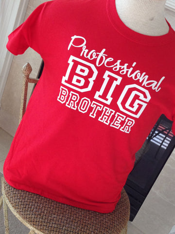 4a5d9a457 Cool Personalized Big Sibling shirt available for Brother and Sisters –  Krystees
