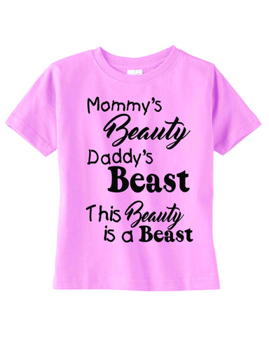 31e6f047d Custom shirts Mommy Beauty Daddy Beast, New Baby Gifts, tshirt Sayings –  Krystees
