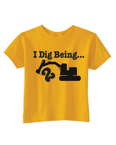 I Dig Being 1 Birthday Construction T Shirt Excavator Party Ideas