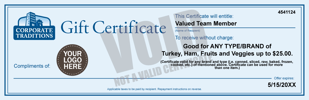 turkey gift certificates ham certificates turkey gift cards