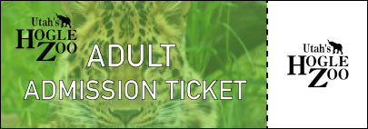 Hogle Zoo - $20 One Time Admission - ADULT Admission Ticket