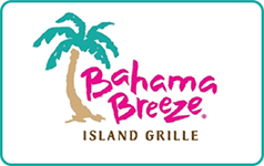 Bahama Breeze $250 Gift Card