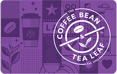 The Coffee Bean & Tea Leaf $10 Gift Card