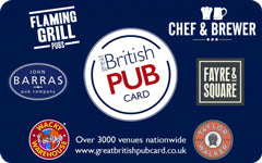 The Great British Pub £500 GBP e-Gift Card