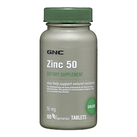 GNC Zinc 50, 100 tablet(s)