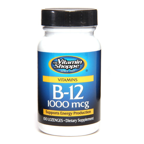 Vitamin Shoppe B-12 (1000 mcg), Unflavoured 100 L