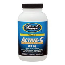 Vitamin Shoppe Active-C (500 mg), Unflavoured 250 tablet(s)