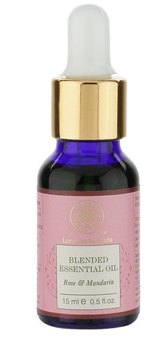 Forest Essentials Blended Essential Oil Rose & Mandarin 15 Ml