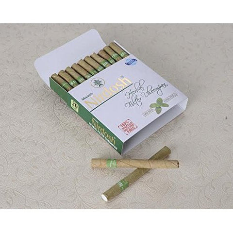Nirdosh Herbal Nicotine Free Pack Of 120 Cigarettes - Made with Ayurvedic Herbs