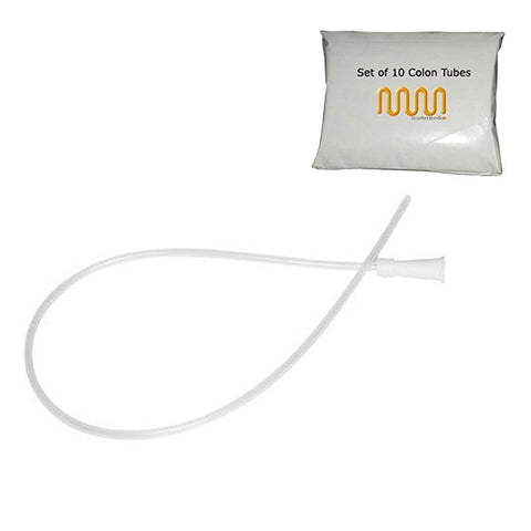 Enema Supplies - Colon Tube Tips - Set of 10 (Sizes 14 FR) Latex Free Marketed