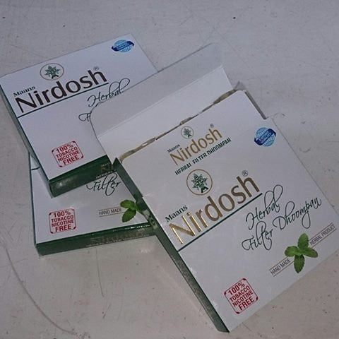 Nirdosh Herbal Pack Of 60 Cigarette Made With Ayurvedic Herbs