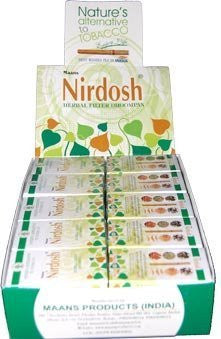Nirdosh Tobacco & Nicotine FREE Herbal Cigarettes - 1 carton of 30 packs