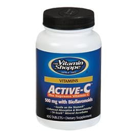 Vitamin Shoppe Active-C (500 mg) with Bioflavonoids, Unflavoured 100 tablet(s)