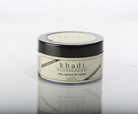 Khadi Apricot & Walnut Cream Scrub with Rose / 50g