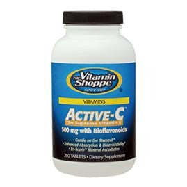 Vitamin Shoppe Active-C (500 mg) with Bioflavonoids, Unflavoured 250 tablet(s)