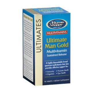 Vitamin Shoppe Ultimate Man Gold Multivitamin, Unflavoured 90 tablet(s)