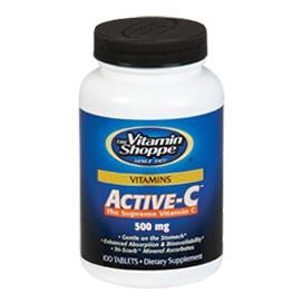 Vitamin Shoppe Active-C (500 mg), Unflavoured 100 tablet(s)