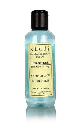 KHADI LAVENDER NEROLI BATH AROMA THERAPY OIL - without mineral oil