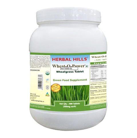 Herbal Hills Wheatgrass - Value Pack, 900 tablet(s)