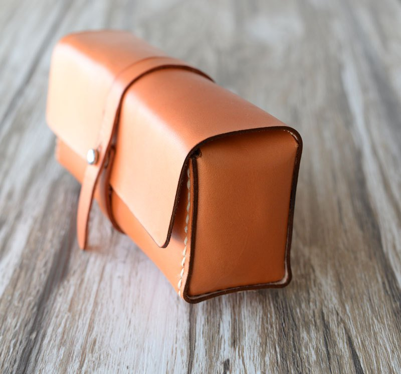 Personalized Brown Leather Toiletry Bag or Dopp Kit with Optional Wooden Gift Box