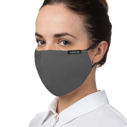 Noordi Antimicrobial Reusable Face Mask - Adult-Face mask-Noordi-Grey-Koala Slings - FREE, fast UK shipping