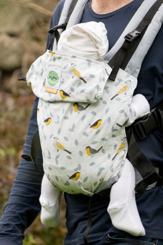 KahuBaby Carrier - Jojo Coco Design - Birdsong and Limestone-Buckled carriers-KahuBaby-Koala Slings - FREE, fast UK shipping