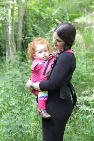 Connecta Solar Carrier - Connecta Baby-Buckled carriers-Connecta-Hot Pink Solar Connecta-Standard straps-Koala Slings - FREE, fast UK shipping