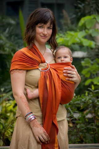 Soul Slings cotton ring sling - single layer-Ring Slings-Soul Slings-Earth Cotton-Koala Slings - FREE, fast UK shipping