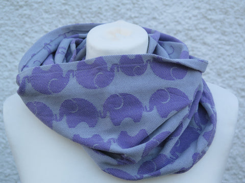 KahuBaby woven wrap infinity scarf, Yaro Elephants-Accessories-KahuBaby-Koala Slings - FREE, fast UK shipping