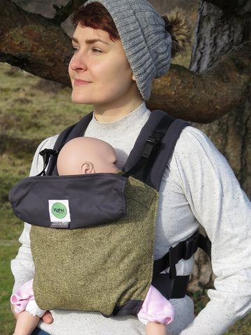 KahuBaby Carrier - Herdwick Tweed, Dobgill Crag-Buckled carriers-KahuBaby-Koala Slings - FREE, fast UK shipping