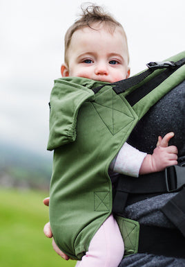 KahuBaby Carrier - Moss Green-Buckled carriers-KahuBaby-Koala Slings - FREE, fast UK shipping